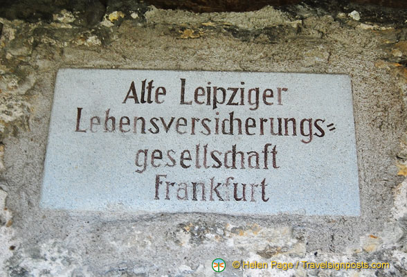 Another donor to the preservation of the Rothenburg wall
