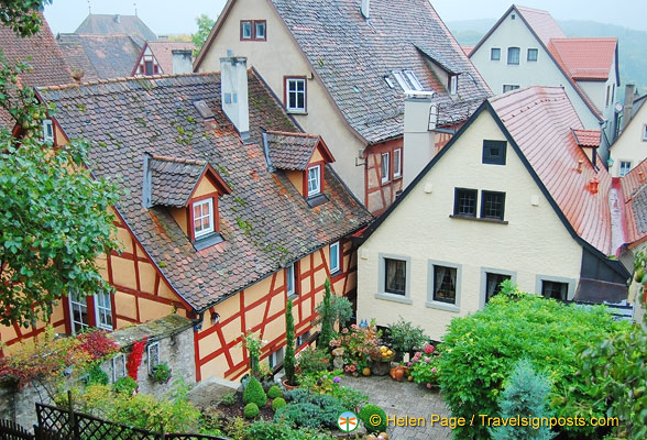 Pretty gardens you see from the Rothenburg wall