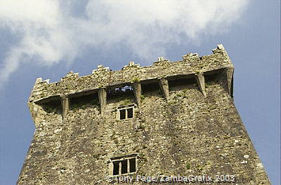 Above the top window is where the stone is [Blarney Castle - County Cork - Ireland]