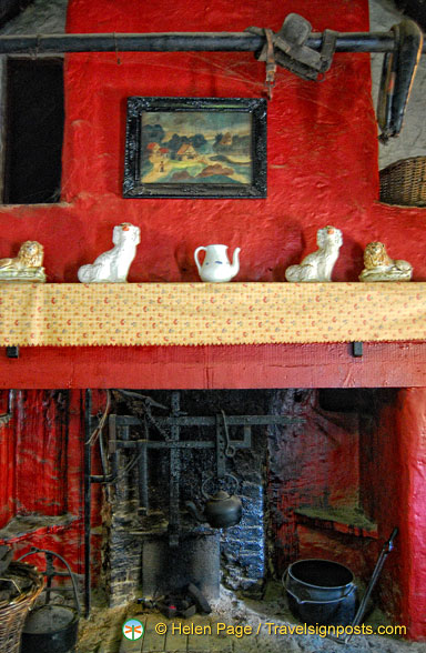 Fireplace of the Shannon farmhouse