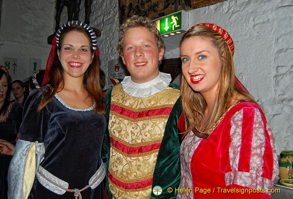 Three charming Bunratty Castle staff