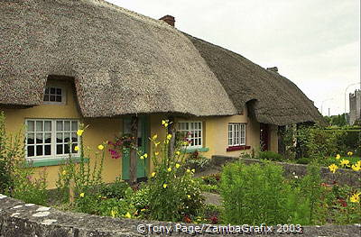 Adare's famous thatched cottages
