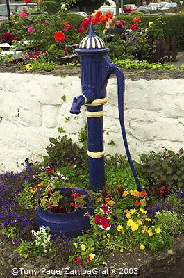 A colourful water hydrant