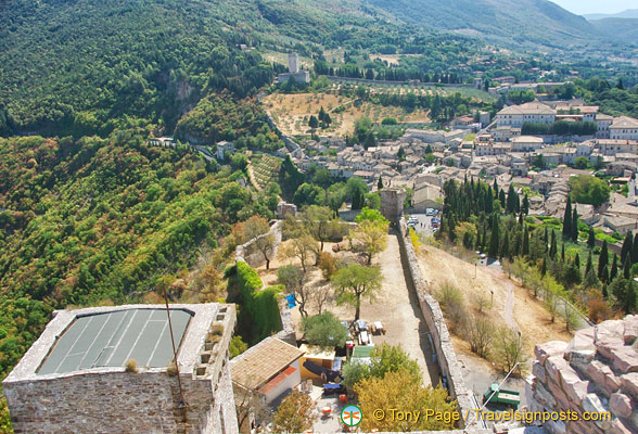 Panoramic views from La Rocca