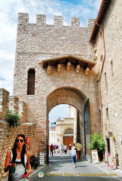 Medieval gateway in Assisi