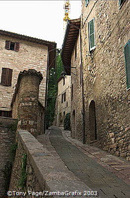 The preservation of the streets and buildings over the centuries has helped to maintain the charm of the town.