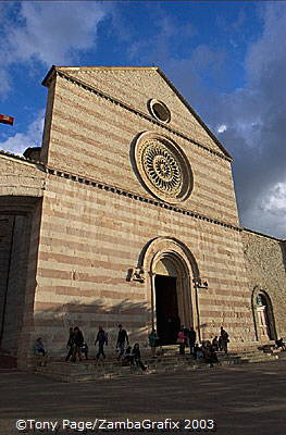 Basilica di Santa Chiara is the burial place of St. Clare who was the founder of the Poor Clares (an order of nuns)
