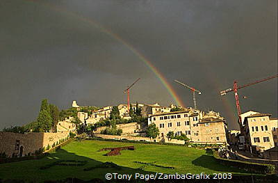 Rainbow over Assisi