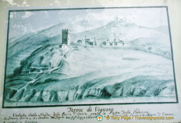 An ancient view of Val d'Orcia