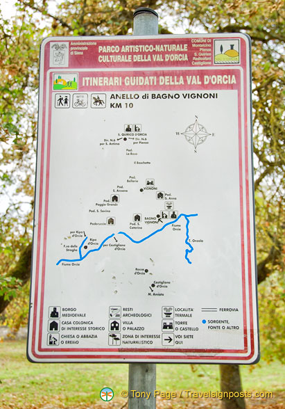 Itinerary for the Val d'Orcia walk