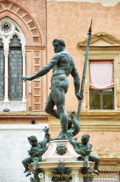 Statue of Neptune in the Piazza Nettuno