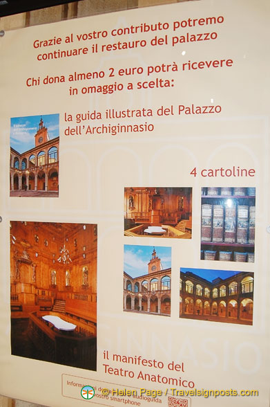 A poster of the Archiginnasio and the Anatomical Theatre