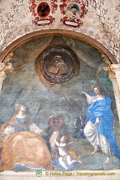 Painting at the Archiginnasio of Bologna