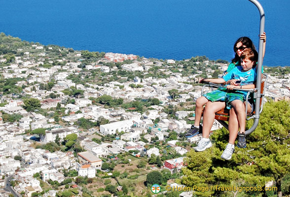 Great view of Capri from the chairlift