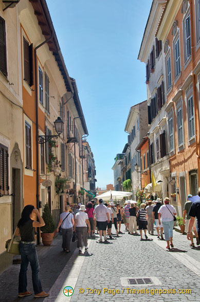 The streets of Castel Gandolfo