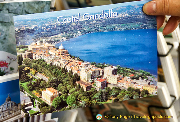 An aerial view of Castel Gandolfo