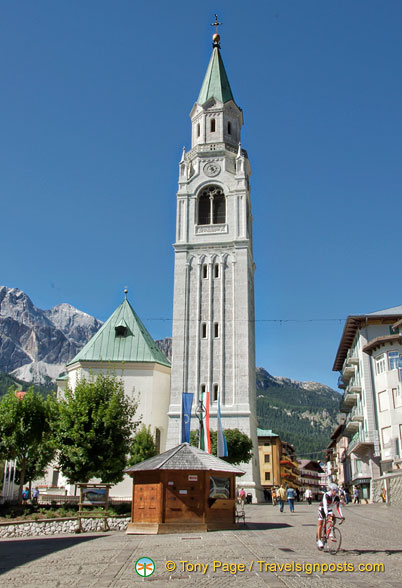 The bell tower of Cortina d'Ampezzo