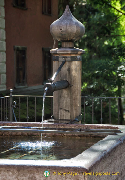 An onion-domed water fountain