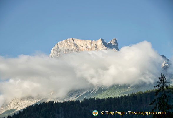 Cortina d'Ampezzo is surrounded by the Dolomites