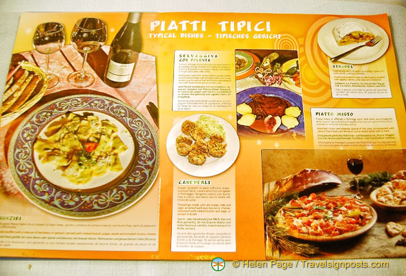 Typical dishes from Cortina d'Ampezzo