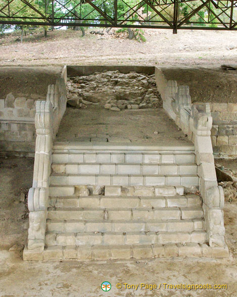 Stairway that led to a large terrace altar that used to face Cortona