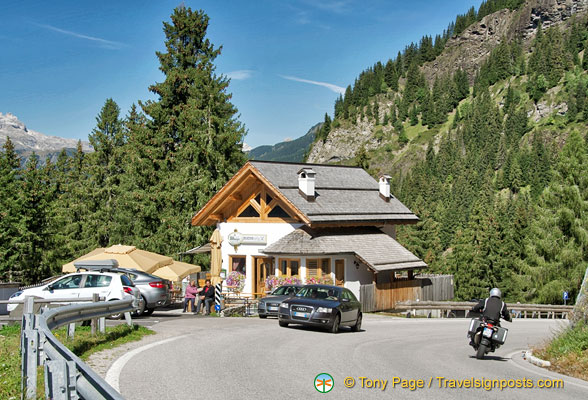 Stop at the Belvedere Grill Bar for a break and enjoy the views