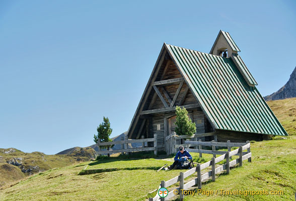 A little chapel at Passo Giau