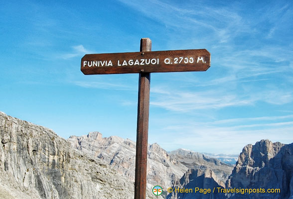 Distance to the Funivia Lagazuoi