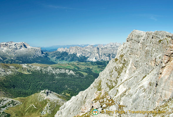 View of the Dolomites from Lagazuoi