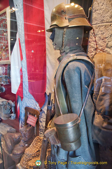 Soldier's gear during the Dolomites war