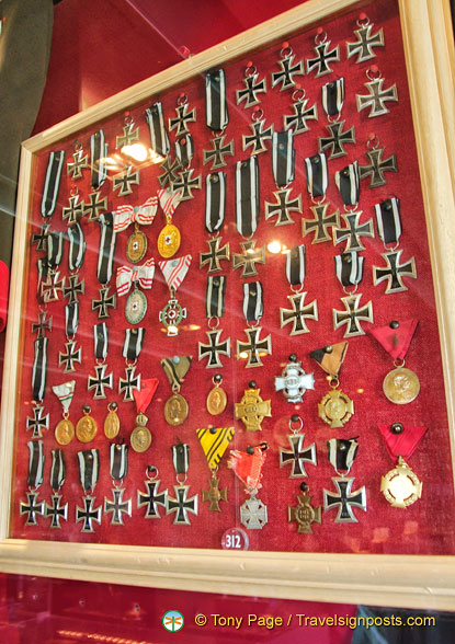 A collection of medals