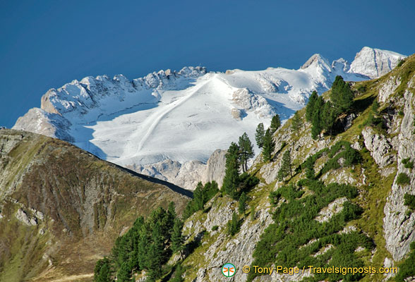 Snow-covered top of Col di Lana