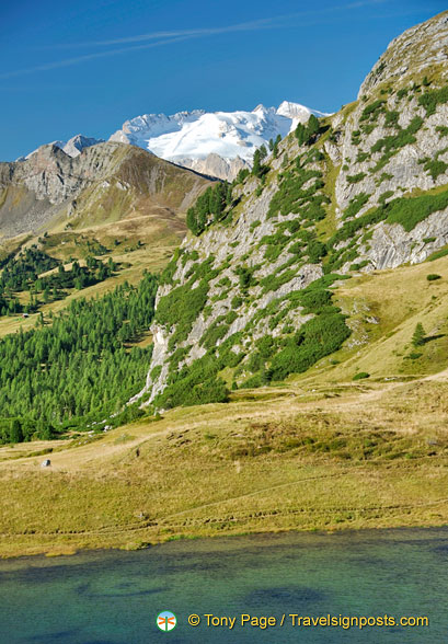 Views across to the Col di Lana