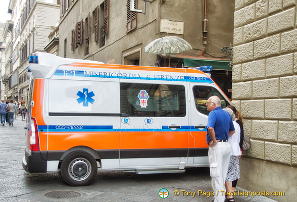 An ambulance station near Piazza Duomo