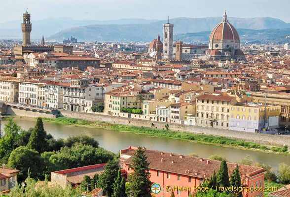 A panoramic view of Florence city centre
