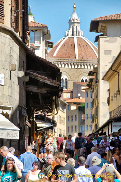 Florence is extremely busy in summer