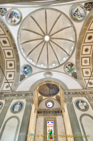 Pazzi Chapel dome and altar