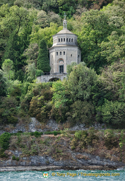The mausoleum on Versace's Lake Como property