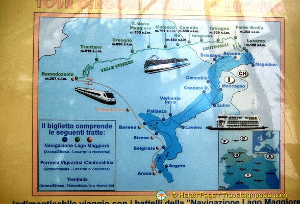 Various ways of getting to Lake Maggiore