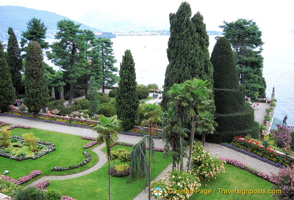Isola Bella Garden view from the top