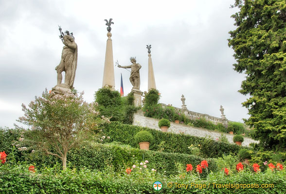 Magnificent Isola Bella Garden statues