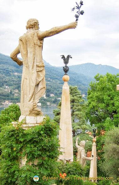 The magnificent statues of Isola Bella gardens