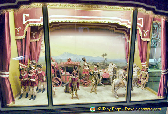 An exhibit depicting Napoleon's visit to Palazzo Borromeo (perhaps)