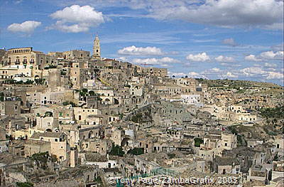 The Sassi (cave) district of Matera