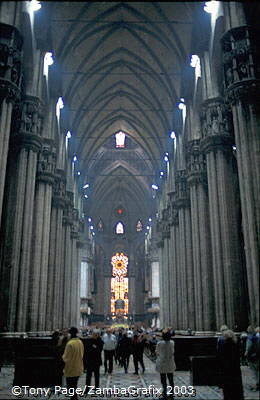 It begun in the 14th century under Prince Gian Galeazzo Visconti and took 500 years to complete