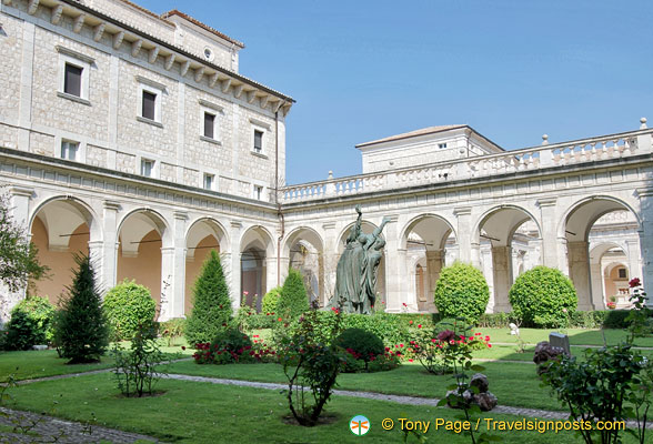 Cloister of Montecassino Abbey