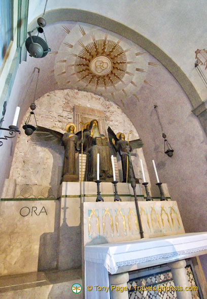 This is the original cell of St Benedict