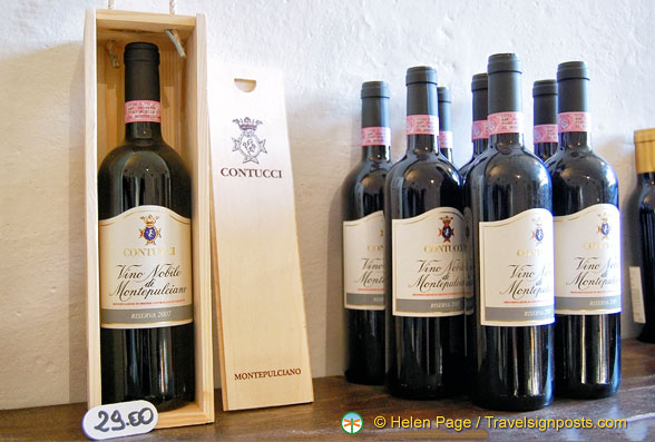 The famous Montepulciano Vino Nobile