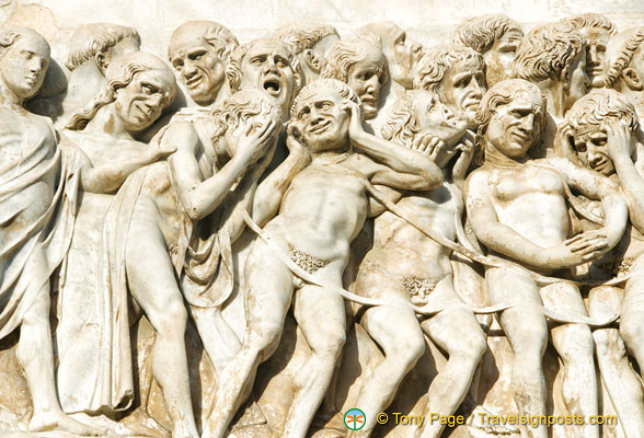 The Last Judgment - agonized faces of those who have been damned