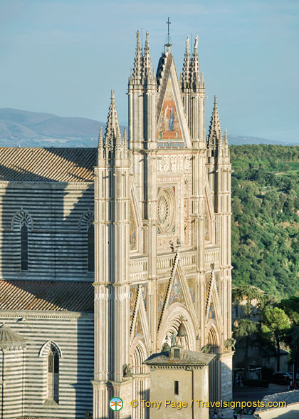 View of the Duomo's facade from Torre del Moro